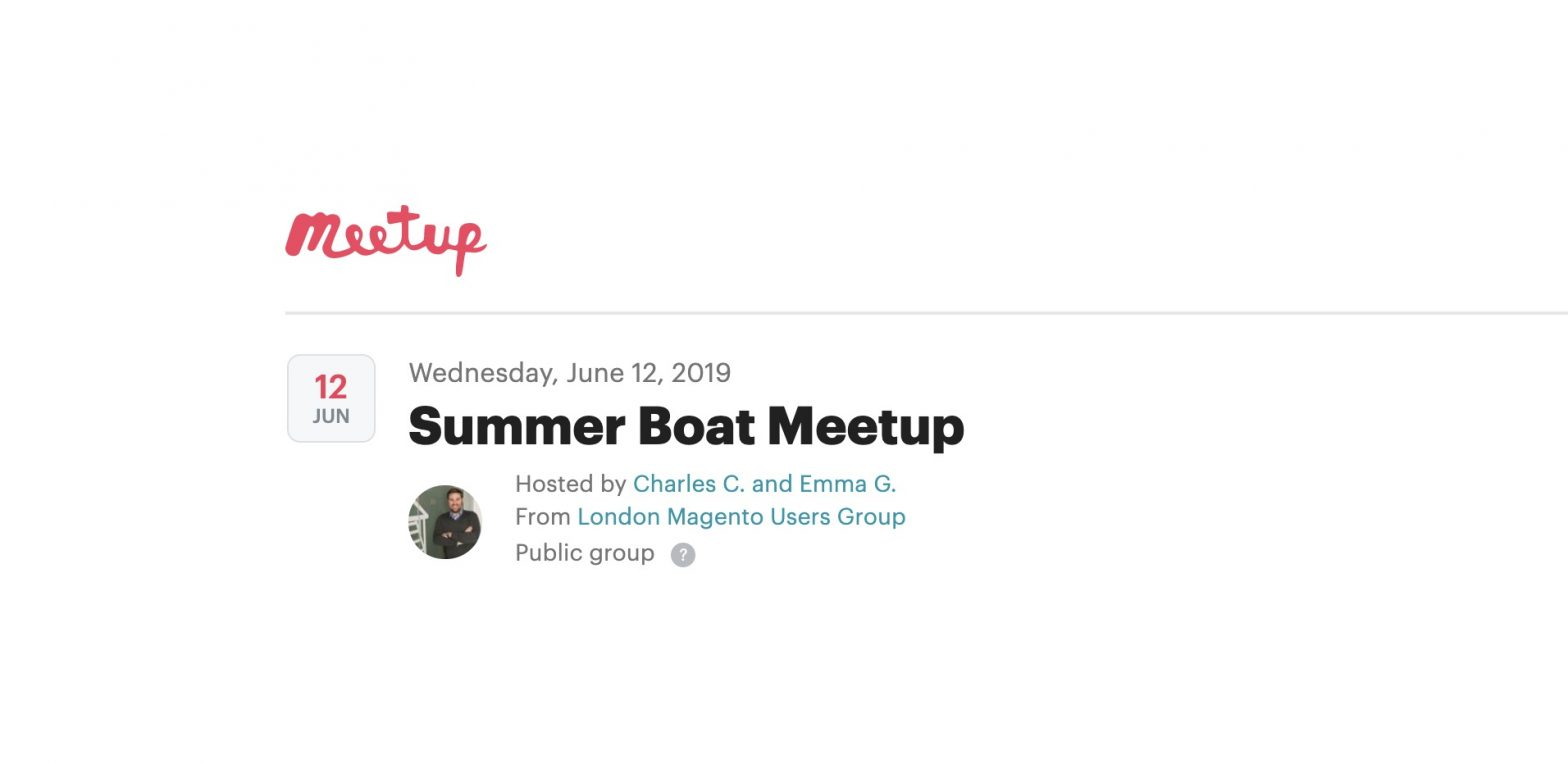 Summer Boat Meetup