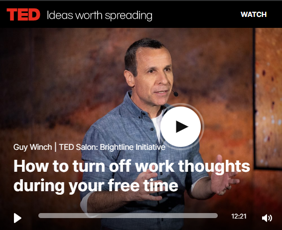 Guy Winch TED Talk